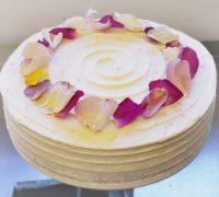 Gluten Free Lemon, Rose and elderflower cake