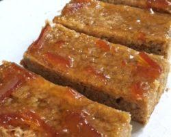 Marmalade and Pistachio Flapjacks