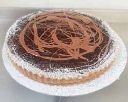 Chocolate and Chestnut tart