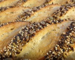 seeded white baguettes