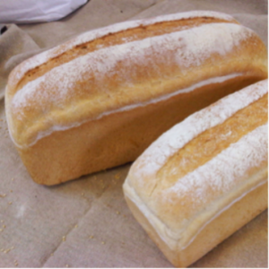 White Split tin loaves