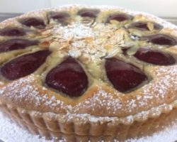 mulled wine and pear tart_