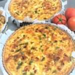 goats cheese and asparagus quiche