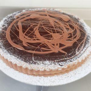 Chocolate and Chesnut tart